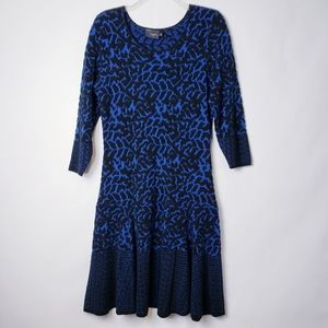 Just Taylor Animal Print Knit Dress